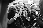 Peace Movement. Peace People. Peace March. Betty Williams and Mairead Corrigan Maguire  Trafalgar Square rally. 1976