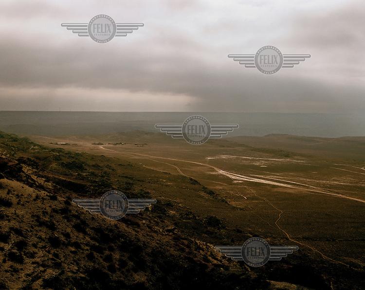 Rural landscape near Aqtau.