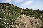 A road in the hills above Lice, Turkey, April 6, 2015. Some Armenians died of hunger or disease during their deportation journey, while others were murdered along the way. Before the genocide, Armenians were prominent in Lice. One hundred years after the genocide, it is difficult to find hard evidence that Armenians existed here. <br /> The 100th anniversary of the Armenian Genocide will be commemorated on April 24, 2015. The Turkish government still refuses to acknowledge genocide--the systematic killing of roughly 1.5 million Armenians from 1915-1923--but Kurds in the Southeast, even some whose ancestors took part in the killing, speak openly and express remorse about what happened.
