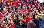 Solna 2014-06-01 Fotboll Landskamp , Sverige - Belgien :  <br /> Belgiens supportrar<br /> (Photo: Kenta J&ouml;nsson) Keywords:  Sweden Sverige Friends Arena Belgium Belgien  supporter fans publik supporters