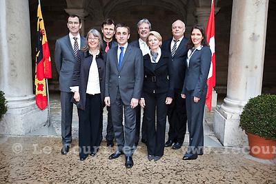 Genève, le 17.02.2010.Photo de groupe des membres du Grand conseil  genevois incorpore..© Le Courrier / J.-P. Di Silvestro