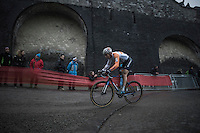'Flying Dutchman' Stan Godrie (NED/Rabobank Development) in action<br /> <br /> UCI Cyclocross World Cup Namur/Belgium 2016