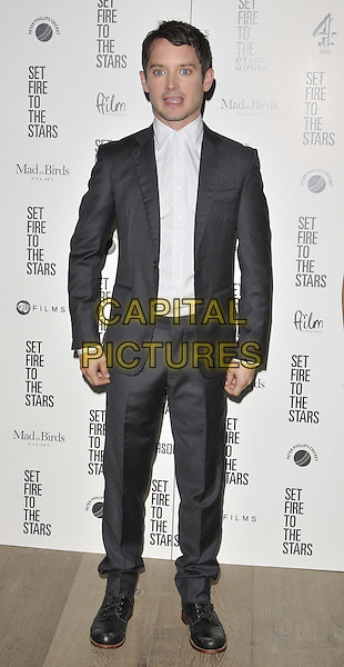 LONDON, ENGLAND - OCTOBER 28: Elijah Wood attends the &quot;Set Fire To The Stars&quot; UK film premiere, The Ham Yard Hotel, Denman St., on Tuesday October 28, 2014 in London, England, UK. <br /> CAP/CAN<br /> &copy;Can Nguyen/Capital Pictures