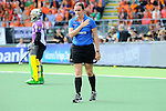 The Hague, Netherlands, June 14: The umpire calls for a video referral during the field hockey gold medal match (Women) between Australia and The Netherlands on June 14, 2014 during the World Cup 2014 at Kyocera Stadium in The Hague, Netherlands. Final score 2-0 (2-0)  (Photo by Dirk Markgraf / www.265-images.com) *** Local caption ***