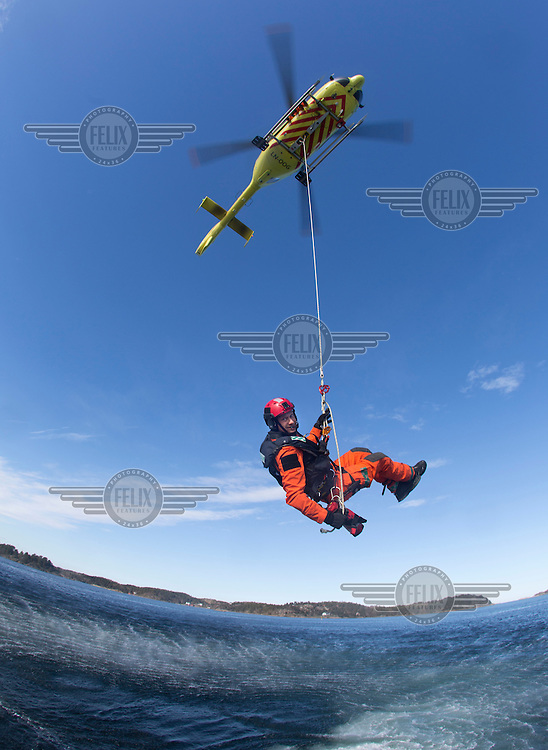 Rescue paramedic Stig Olsen.<br /> Norwegian Air Ambulance base Arendal.