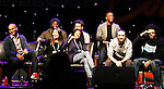"""One Life To Live Renee Elise Goldsberry who stars in Broadway's """"Hamilton - The Musical"""" with Lin-Manuel Miranda (2nd R) and cast Chris Jackson, Phillipa Soo, Okieriete Onadawan, Jonathan Groff, Leslie Odom, Jr., Daveed Diggs (R) - all attending the first ever 3-day Broadway Con on January 22 - 24, 2016 at the Hilton Hotel, New York City, New York.  (Photo by Sue Coflin/Max Photos)"""