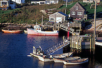 Peggys Cove (Peggy's Cove), NS, Nova Scotia, Canada - Fishing Village and Port on Atlantic Ocean East Coast