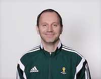 FUSSBALL Fototermin FIFA WM Schiedsrichter  09.04.2014 Jonas ERIKSSON (Schweden)