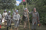 Norman soldiers, Living History event, Sutton Hoo, Suffolk, England