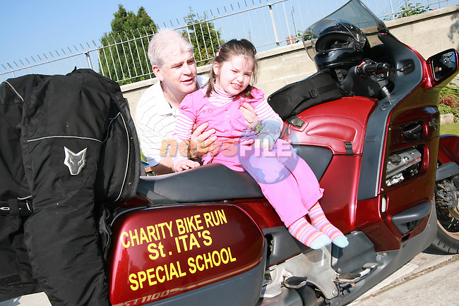 Lauren Faulkner at the Start of the Run of the Country Motorcycle Run at St.Itas School...Photo NEWSFILE/Jenny Matthews.(Photo credit should read Jenny Matthews/NEWSFILE)....This Picture has been sent you under the condtions enclosed by:.Newsfile Ltd..The Studio,.Millmount Abbey,.Drogheda,.Co Meath..Ireland..Tel: +353(0)41-9871240.Fax: +353(0)41-9871260.GSM: +353(0)86-2500958.email: pictures@newsfile.ie.www.newsfile.ie.FTP: 193.120.102.198.