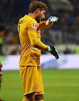 Torwart Kevin Trapp (Eintracht Frankfurt) - 29.08.2019: Eintracht Frankfurt vs. Racing Straßburg, UEFA Europa League, Qualifikation, Commerzbank Arena<br /> DISCLAIMER: DFL regulations prohibit any use of photographs as image sequences and/or quasi-video.