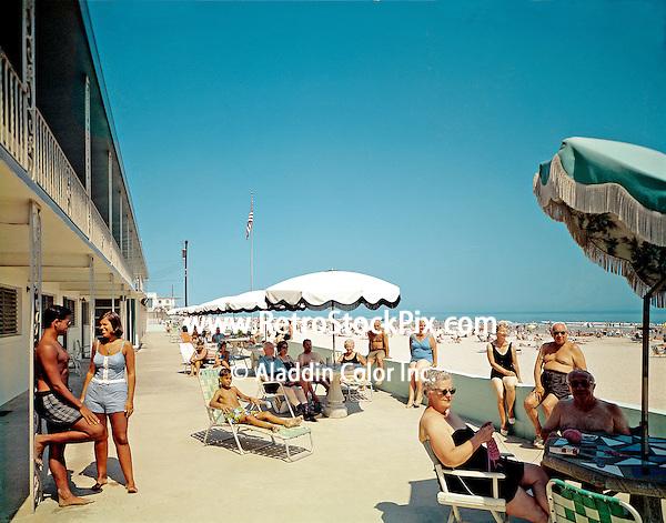 Beach Waves Motel in Wildwood NJ Patio