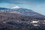 View of Camels Hump in the GreenMountains from Waitsfield, VT, USA