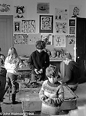In the art room, Summerhill school, Leiston, Suffolk, UK. 1968.