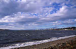 The River Tay estuary and Dundee, Broughty Ferry, Scotland