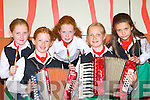 Competing in the competitions at the Killarney Fleadh Cheoil in Killarney Community College on Saturday was l-r: Laura, Amy, Carol O'Sullivan, Kathleen Van Der Spek and Allanah Smith Kenmare    Copyright Kerry's Eye 2008