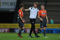 Swansea City manager Graham Potter speaks to Daniel James and Aaron Lewis of Swansea City during the Pre-Season Friendly between Yeovil and Swansea City at Huish Park, Yeovil, England, UK. Tuesday 10 July 2018