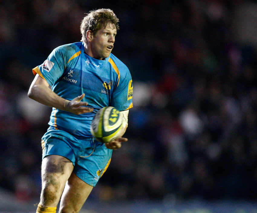 Photo: Richard Lane/Richard Lane Photography. Leicester Tigers v London Wasps. LV= Cup. 26/01/2013. Wasps' T Rhys Thomas.