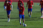 Spainsh Alvaro Morata and Francisco Alarcon Isco during the training of the spanish national football team in the city of football of Las Rozas in Madrid, Spain. November 10, 2016. (ALTERPHOTOS/Rodrigo Jimenez)