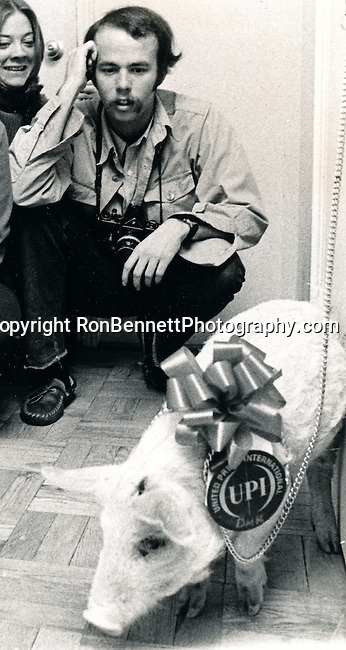 David Hume Kennerly Photojournalist with United Press International UPI pig,