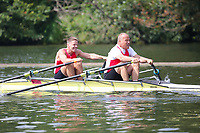 Race: 35  MasE.2x  Quarter-Final<br /> 108  Bewl Bridge Rowing Club<br /> 114  Berliner RC/RC Wannersee Composite<br /> <br /> Henley Masters Regatta 2018 - Friday<br /> <br /> To purchase this photo, or to see pricing information for Prints and Downloads, click the blue 'Add to Cart' button at the top-right of the page.