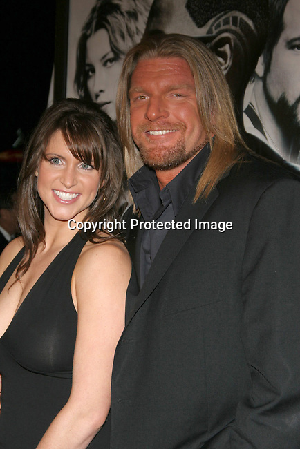 Triple H &amp; wife Stephanie McMahon<br />