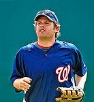 8 March 2009: Washington Nationals' outfielder Austin Kearns heads back to the dugout during a Spring Training game against the New York Mets at Space Coast Stadium in Viera, Florida. The Nationals defeated the Mets 8-3 in the Grapefruit League matchup. Mandatory Photo Credit: Ed Wolfstein Photo