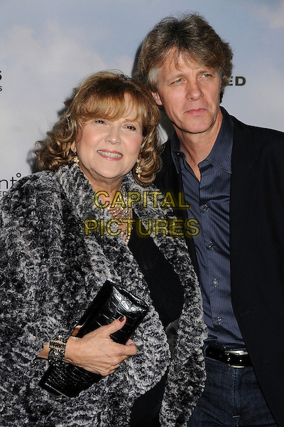 """Brenda Vaccaro & guest .""""Promised Land"""" Los Angeles Premiere held at the Directors Guild of America, West Hollywood, California, USA, .6th December 2012.half length grey gray coat black clutch bag fur  .CAP/ADM/BP.©Byron Purvis/AdMedia/Capital Pictures."""