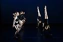 London, UK. 14.02.20. Elmhurst Ballet Company, the graduate company from Elmhurst Ballet School, perform in the dress rehearsal of 'Synergy' at the Lilian Baylis Studio, Sadler's Wells. The piece shown is: MultiVox, choreographed by Catarina Carvalho for Studio Wayne McGregor. The dancers are: Jennifer Beattie, Maisie Butler, Joshua Dart, Ruben Flynn-Kann, Lucy Elizabeth Fox, William Mitchell, Jakob Myers, Emily Ormsby, Grace Owen, Olivia Parham, Mia Stapleton, with Year 13 students Lydia Brayshaw, Finnley McSherry. Photograph © Jane Hobson.