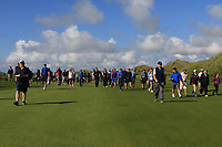 Supporters on the 17th fairway during the Final of the AIG Irish Amateur Close Championship 2019 in Ballybunion Golf Club, Ballybunion, Co. Kerry on Wednesday 7th August 2019.<br /> <br /> Picture:  Thos Caffrey / www.golffile.ie<br /> <br /> All photos usage must carry mandatory copyright credit (© Golffile | Thos Caffrey)