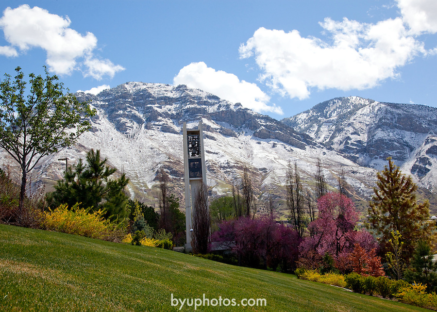 1004-61 198<br /> <br /> April GCS 2010<br /> <br /> Bell Tower and Y-Mountain<br /> <br /> Photo by Mark Philbrick/BYU<br /> <br /> &copy; BYU PHOTO 2010<br /> All Rights Reserved<br /> photo@byu.edu  (801)422-7322