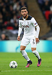 Tottenham's Kyle Walker in action during the Champions League group E match at the Wembley Stadium, London. Picture date November 2nd, 2016 Pic David Klein/Sportimage