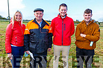 Emma and Noel Fitzgerald (Lixnaw), Kieran Houlihan (Ballyduff) and Justin Horgan (Ardfert) at the Abbeydorney Coursing on Sunday.