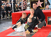 LOS ANGELES, CA. February 05, 2019: Pink, Carey Hart, Willow Sage Hart &amp; Jameson Moon Hart at the Hollywood Walk of Fame Star Ceremony honoring singer Pink.<br /> Pictures: Paul Smith/Featureflash