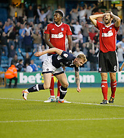 GOAL - Millwall's Aiden O'Brien ties up the score once more during the Sky Bet Championship match between Millwall and Ipswich Town at The Den, London, England on 15 August 2017. Photo by Carlton Myrie.
