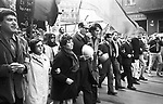 Germany - Berlin - West-Berlin, May demonstration of the APO and the Socialist Unity Party of West Berlin (SEW) in Neukoelln and Kreuzberg, participants: lawyer Horst Mahler (4th from left) , Heinz (Micki) Beinert (7th from left), Secretary of the Socialist Youth League (Sozialistische Jugend Die Falken).