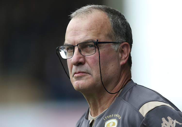 Leeds United manager Marcelo Bielsa <br /> <br /> Photographer Rob Newell/CameraSport<br /> <br /> The EFL Sky Bet Championship - Millwall v Leeds United - Saturday 5th October 2019 - The Den - London<br /> <br /> World Copyright © 2019 CameraSport. All rights reserved. 43 Linden Ave. Countesthorpe. Leicester. England. LE8 5PG - Tel: +44 (0) 116 277 4147 - admin@camerasport.com - www.camerasport.com