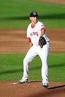 Portland Sea Dogs pitcher Matt Barnes #35 during a game versus the Binghamton Mets at Hadlock Field in Portland, Maine on May 17, 2013. (Ken Babbitt/Four Seam Images)