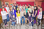 Double Celebrations - Shane Fitzgerald, Ardfert & Loretta Locke, Ballymacelligot, seated centre having a ball with friends and family at their joint 18th birthday party held in McElligot's Bar Ardfert on Friday night....................................................................................................................................................................................................................................................... ............