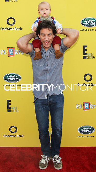 SANTA MONICA, CA, USA - NOVEMBER 16: Johnathon Schaech, Camden Schaech arrives at the P.S. ARTS Express Yourself 2014 held at The Barker Hanger on November 16, 2014 in Santa Monica, California, United States. (Photo by Celebrity Monitor)