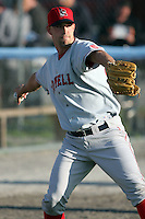 September 9 2008:  Pitcher David Aardsma of the Lowell Spinners, Class-A affiliate of the Boston Red Sox, during a game at Dwyer Stadium in Batavia, NY.  Photo by:  Mike Janes/Four Seam Images