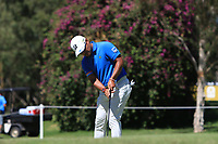 Yusaku Miyazato (JPN) in action on the 1st during Round 2 Matchplay of the ISPS Handa World Super 6 Perth at Lake Karrinyup Country Club on the Sunday 11th February 2018.<br /> Picture:  Thos Caffrey / www.golffile.ie<br /> <br /> All photo usage must carry mandatory copyright credit (&copy; Golffile | Thos Caffrey)