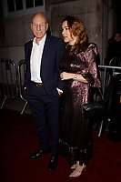 LONDON, ENGLAND - FEBRUARY 09 :  Patrick Stewart and Sunny Ozell arrive at the Charles Finch and Chanel pre-BAFTA party at Loulou's on February 09, 2019 in London, England.<br /> CAP/AH<br /> &copy;Adam Houghton/Capital Pictures
