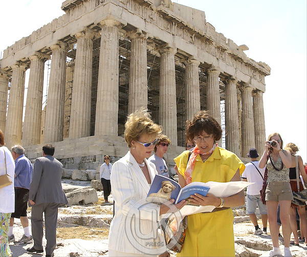 King Harald & Queen Sonja of Norway's State Visit to Greece..Visit to the Acropolis.