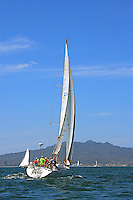 The sail boats participate in 2009 Regatta    of the coast of La Cruz Mexico.