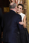 Queen Letizia of Spain (R) receives Prince Albert II of Monaco because of the United Nations conference for the Climate Summit 2019 (COP25) at the Royal Palace. December 2,2019. (ALTERPHOTOS/Pool/Carlos Alvarez)