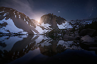 Night sky at Temple Crag. North Forth Big Pine Creek, Inyo National Forest, CA