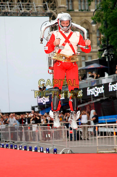 ROCKETMAN.Lifeball 2008 - Show, Rathaus, Vienna, Austria, 17th May 2008..full length red carpet suit red jumping flying .CAP/PPG.©Eckharter/People PIcture/Capital.Pictures