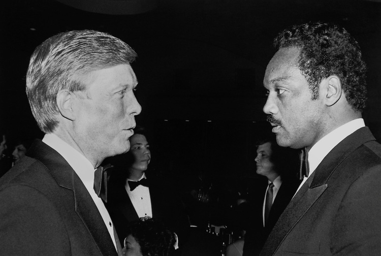 Rep. Dick Gephardt, D-Mo., with Presidential Candidate Rev. Jesse Jackson. (Photo by CQ Roll Call via Getty Images)