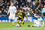 Borussia Dortmund Midfielder Shinji Kagawa (C) in action during the Europe Champions League 2017-18 match between Real Madrid and Borussia Dortmund at Santiago Bernabeu Stadium on 06 December 2017 in Madrid Spain. Photo by Diego Gonzalez / Power Sport Images